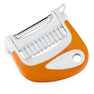 Kitchen Maestro, Ergonomic 3-in-1 Peeler. Brush, Peeler and Eye Remover for Potatoes and other Fruits and Vegetables.