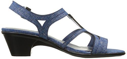 Metallic Sandal von Street Britney für Blue Easy Damen Print Dress qtgUgA