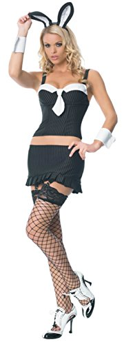 Leg Avenue Womens Bunny Gangster Cocktail Rabbit Outfit Fancy Dress Sexy Costume, M (8-10) - Sexy Cocktail Bunny Costumes