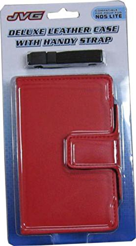 3rd Party Deluxe Leather Case with Handy Strap For NDS Lite - Red - Nintendo DS;