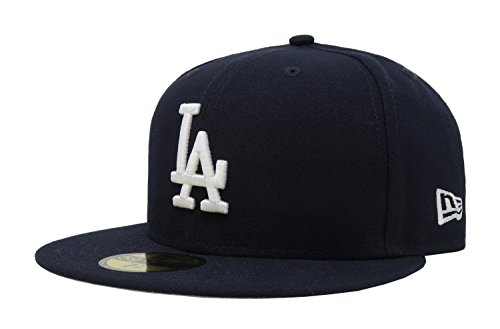 - MLB Los Angeles Dodgers Navy with White Basic Cap, Blue, 7 3/8