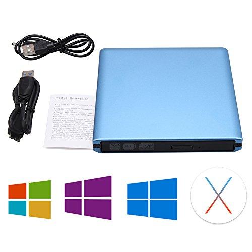 DLPIN USB 3.0 Ultra Portable External CD DVD RW DVD ROM Drive/Writer/Burner for Laptops, Desktops, Notebooks Mac, Macbook Pro Air iMAC (Blue) by DLPIN (Image #4)