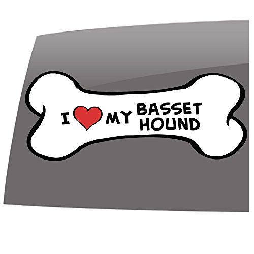 Window Swag I love my Basset Hound- Color - Decal - Pets - Dogs - Cats - Vinyl Sticker