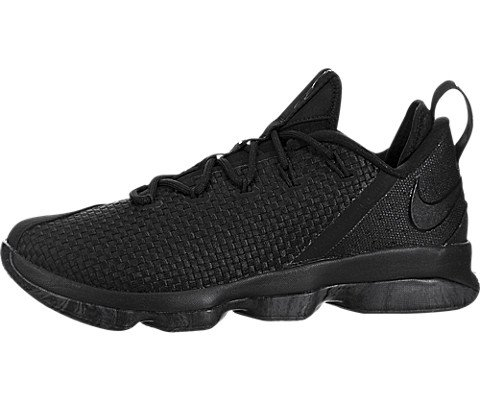 Nike Lebron XIV Low Men's Basketball Shoes Black/Black-Dark Grey 878636-002 (10 D(M) US) by NIKE