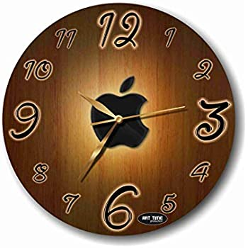 ART TIME PRODUCTION Apple 11 Handmade Wall Clock - Get Unique décor for Home or Office – Best Gift Ideas for Kids, Friends, Parents and Your Soul Mates.
