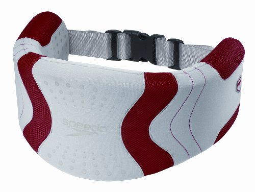 Speedo Hydro Resistant Jog Belt Swim Training Aid, Silver/Red, One Size