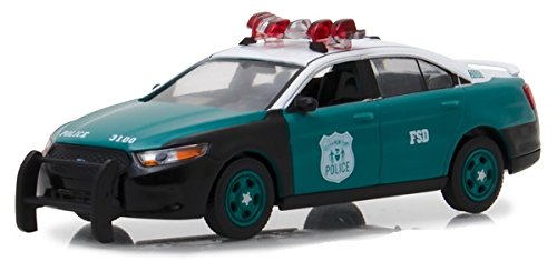 NYPD - 2014 Ford Police Interceptor Sedan Vintage Show Vehicle, Officially Licensed, Real Rubber Tires, Protective Acrylic Case, True-to-Scale, Limited Edition ()