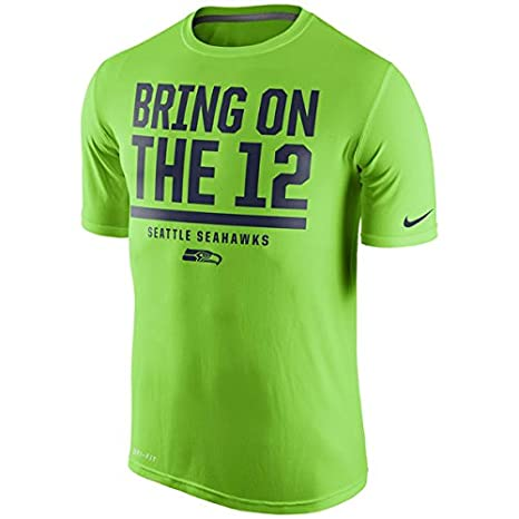 Image Unavailable. Image not available for. Color  NIKE Seattle Seahawks  Dri-Fit Bring On The 12 quot  Legend Verbiage T-Shirt 091a51718