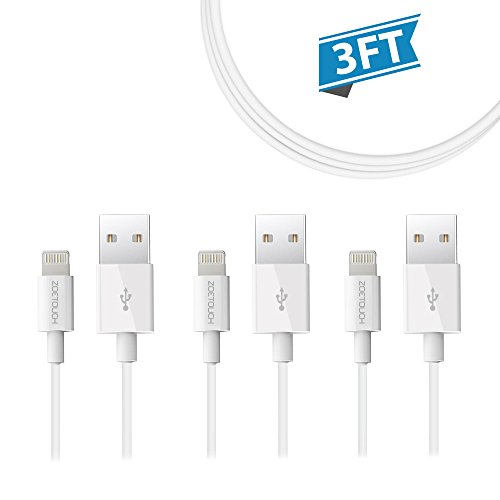 Lightning Cable ZOETOUCH for iPhone Cable, iPhone iPad iPod - 3 Feet (3 Pack)
