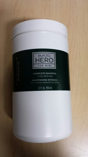 Eufora Hero for Men Complete Shampoo for Healthy Skin & Scalp Professional Size 32 oz by Eufora Hair