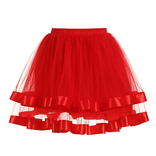 ink2055 Women Double Layers Petticoat Gauze Party Ballet Tutu Skirt Fancy (Double Layer Tutu)