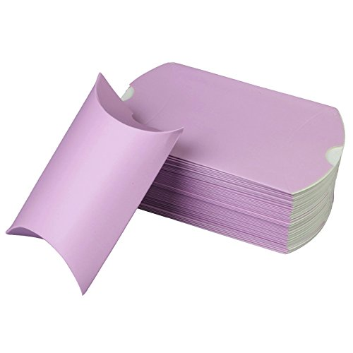 vLoveLife 5'' X 3.5'' Lavender Cute Pillow Kraft Paper Gift Boxes Wedding Party Favor Favour Gift Candy Box 13cm x 9cm - Pack Of 100 ()