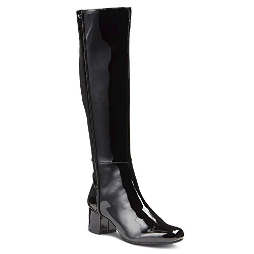 Sam & Libby Elana Black Boots (9 1/2) (Patent Leather Knee Boot)