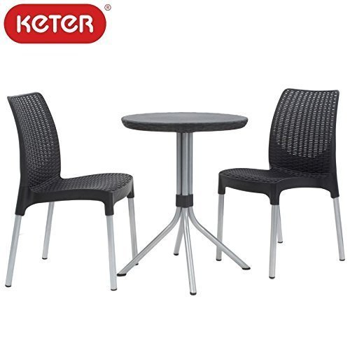keter chelsea set bistroset balkonset balkonm bel 3 tlg gartenset gartenm bel online bestellen. Black Bedroom Furniture Sets. Home Design Ideas