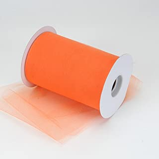 BBCrafts Orange Polyester Tulle Roll 6 inch 100 Yards
