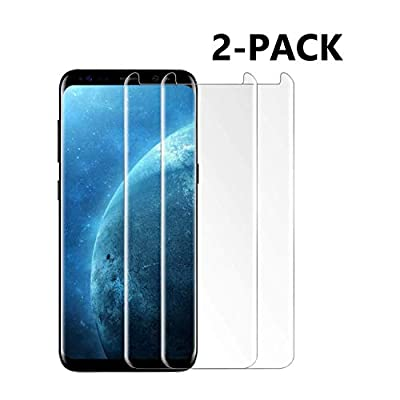 [2-Pack] Galaxy S8 Plus Screen Protector, TEIROO Tempered Glass Screen Protector with 9H Hardness,Easy Bubble-Free Installation,Anti-Scratch Compatible with Samsung Galaxy S8 Plus