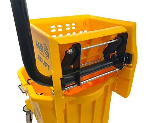 Hero EZ-LIFT Dual Cavity Commercial Mop Bucket with Wringer on Wheels, includes Dirty Water Bucket (36-Quart   9 Gallon Cleaning Bucket) by HERO IMPORTS (Image #4)