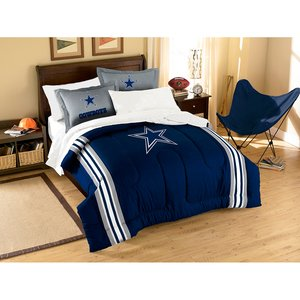 The Northwest Company NFL Dallas Cowboys Full Applique Comforter and Sham Set, 76 x 86-Inch