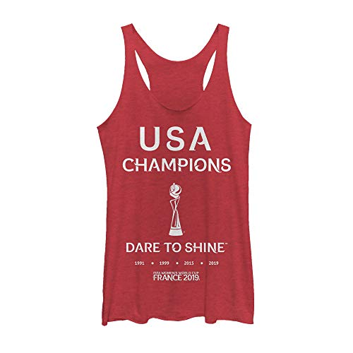 FIFA Women's World Cup France 2019 Women's USA Champions Dare to Shine Red Heather Racerback Tank Top
