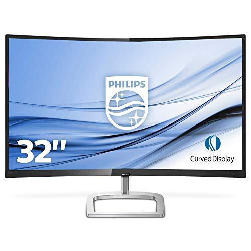 """Philips 328E9FJAB/00 - Monitor 32"""" Ultra-Wide Curvo (QHD, 2560X1440 Pixels, Modo LowBlue, FreeSync, FlickerFree, 4ms, HDMI, Displayport)"""