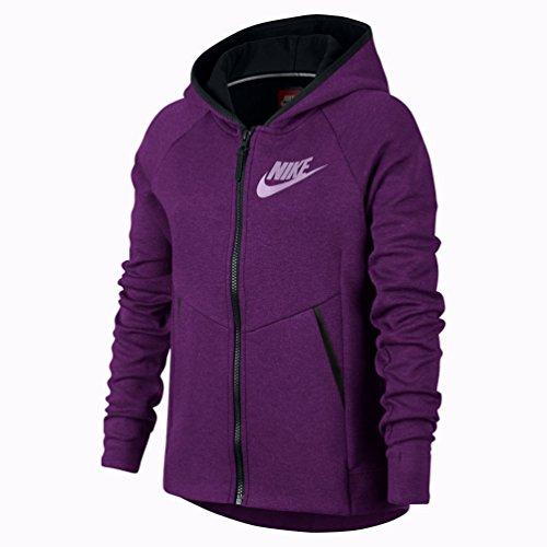 Nike Tech Fleece a d'Entrainement Veste a Capuche Mixte Enfant, Violet, FR : L (Taille Fabricant : 146)