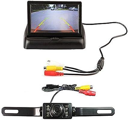 "Kit de Cámara Monitor LCD de 4.3/"" veces Inalámbrico Placa de marcha atrás HD Coche Delantero Trasero"