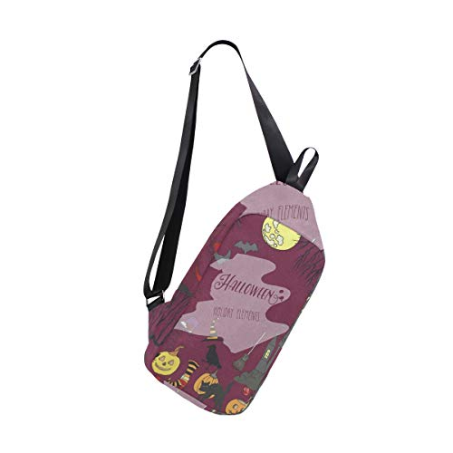 Lovexue Sling Bag Halloween Holiday Decorations Womens Chest Shoulder Backpacks Crossbody Casual Daypack ()