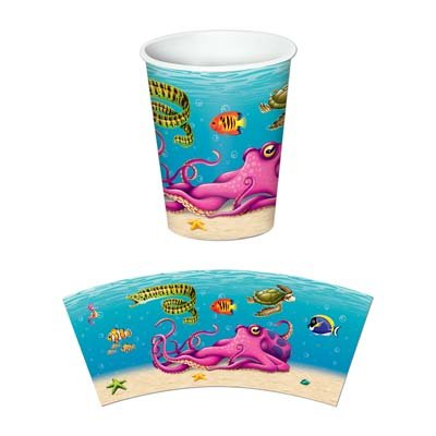 Under The Sea Beverage Cups   (8/Pkg)