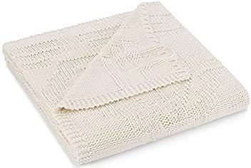 Pendleton Home Collection Santa Clara Chunky Knit Throw Blanket - Ivory Beige - 50 x 70