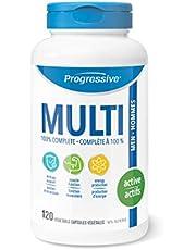 Progressive MultiVitamin for Active Men - 120 Capsules   Made with Glutamine, ALA, CoQ10, Green Food Concentrates, Chromium, Tribulus, Zinc, Vitamin D3 and Vitamin K2