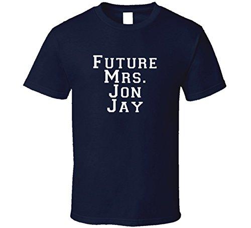 Future Mrs Jon Jay Funny St. Baseball Shirt L Navy