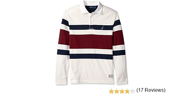 Nautica Hombre K83109 Manga Larga Camisa Polo - Blanco - XX-Large ...