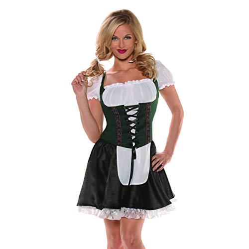 Underwraps Beer Maiden Top, Green, -