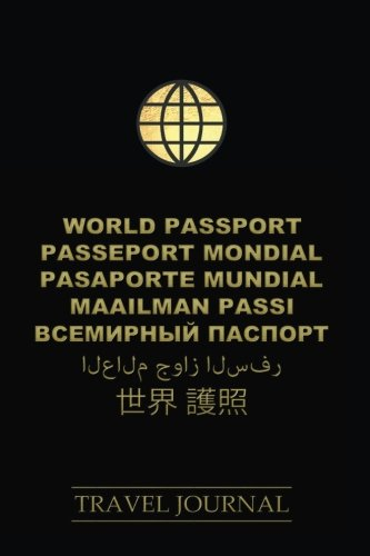 World-Passport-Travel-Journal-200-Pages-6x9-ruled-notebook-black-cover-generous-line-spacing-easy-on-the-eyes-white-lines-on-gray-background-for-free-writing-drawing-doodles-images-etc