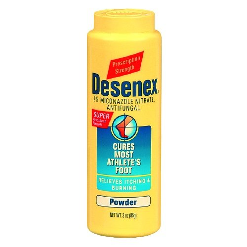 (Desenex Antifungal Powder, Cures Athlete's Foot, 2% Miconazole Nitrate 3 oz (85 g)(Pack of 1) )