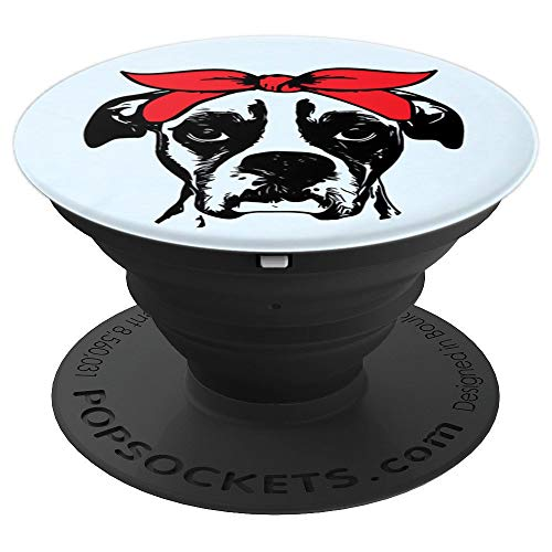 Boxer Dog Mom Artistic Funny Dog Breed Mobile Accessory Gift - PopSockets Grip and Stand for Phones and Tablets -