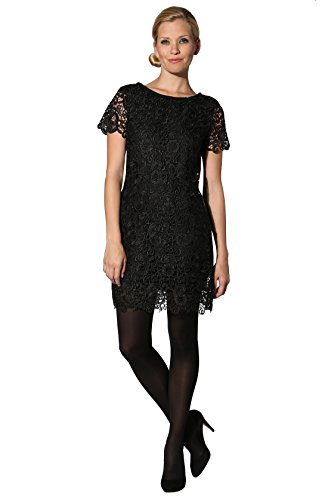KOOKAI Damen Kleid Mikrofaser Dress Unifarben, Größe: Onesize, Farbe: Schwarz