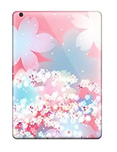 Excellent Ipad Air Case Tpu Cover Back Skin Protector Pretty Floral Design