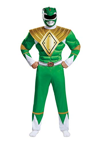 Disguise Men's Plus Size Green Ranger Classic Muscle Adult Costume, XXL (50-52)