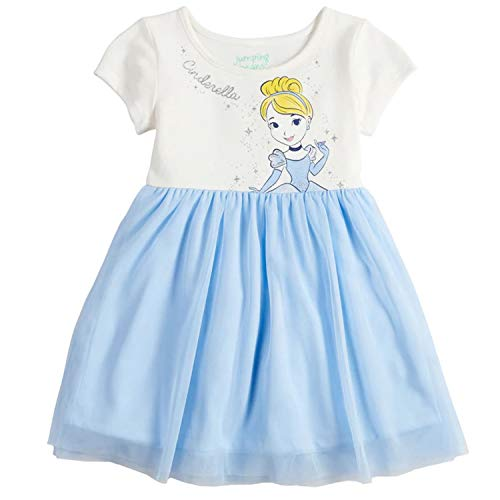 Disney's Princess Beauty and The Beast Belle Baby Doll, Cinderella Toddler Girl Dress (Cinderella, 3T) -