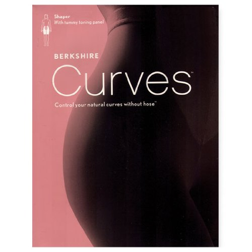 Berkshire Women's Curves To The Waist Shaper Without Hose 8048, Black, 3-4