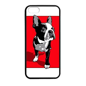Tt-shop Custom Bulldog and Red Background Pattern For Iphone 5, 5S (Laser Technology) T298