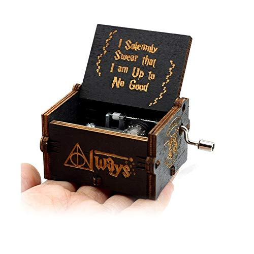 VDV Music Box - New Black Music Box Zelda Star Wars Pink Sailor Month Castle in Sky Hand cranked me Music Birthday -