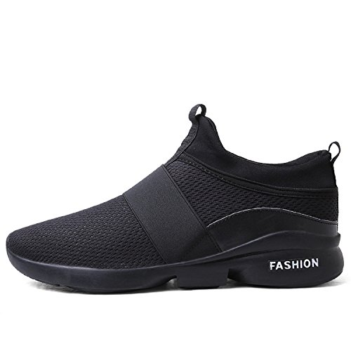 LILY999 Mixte adulte Respirant Mesh Casual Chaussures de Sport,Chaussures de Course Sports Fitness Gym athlétique Baskets Sneakers Noir
