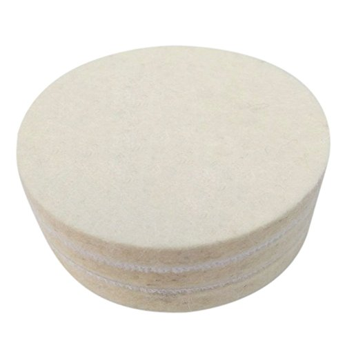 Kicpot Wool Felt Disc Polishing Pads and Backing Pad with M14 Drill Adapter Kit to Grind and Polish Glass Plastic Metal Marble by Kicpot (Image #3)