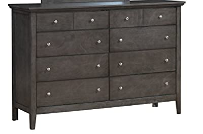 Glory Furniture G5405-D 8 Drawer Dresser, Gray
