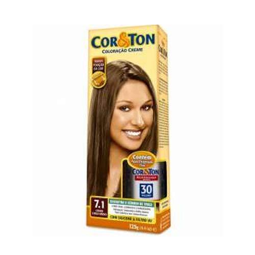 Kit Tintura Cor&Ton 1.0 Preto Azulado 180 g, Niely