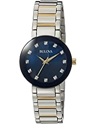 Bulova Womens Quartz Stainless Steel Casual WatchMulti Color (Model: 98P157)