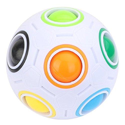 TaoQi Fidget Ball Magic Brain Exercising Ball, Magic Cube 3D Puzzle Toys, Fidget Balls Rainbow Magic Ball Plastic Cube Twist Puzzle Toys For Children's Educational Toy Stress Reliever (7cm)
