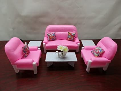 Amazon.com: Barbie Doll Size Gloria Living Room Play Set: Toys & Games